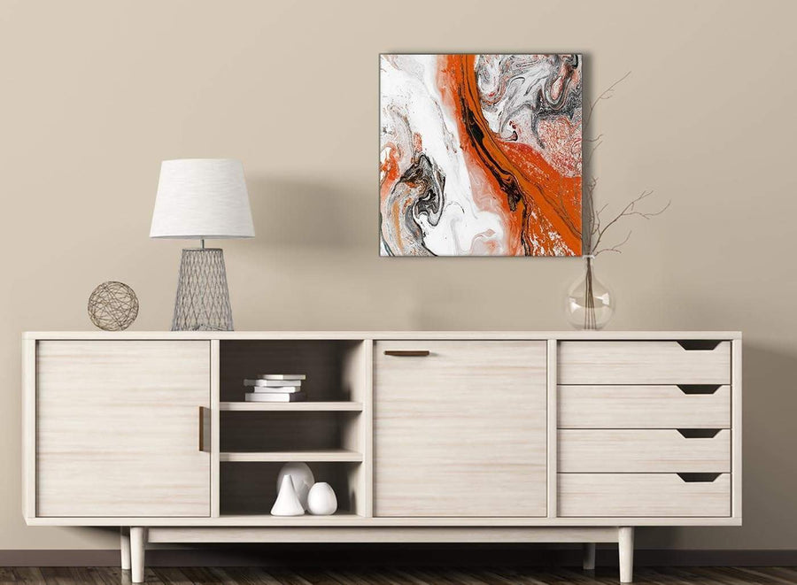 Orange And Grey Swirl Living Room Canvas Wall Art Accessories Abstra Wallfillers Co Uk