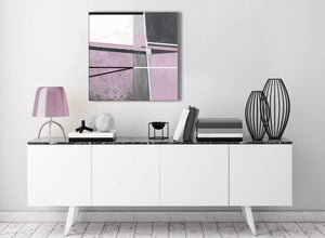 Contemporary Lilac Grey Painting Stairway Canvas Wall Art Decorations - Abstract 1s395m - 64cm Square Print