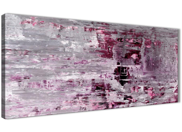 Oversized Plum Grey Abstract Painting Wall Art Print Canvas Modern 120cm Wide 1359 For Your Bedroom