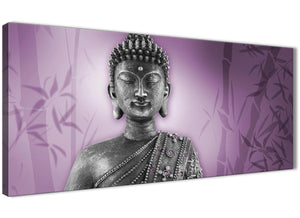 Oversized Purple And Grey Silver Wall Art Prints Of Buddha Canvas Modern 120cm Wide 1330 For Your Living Room