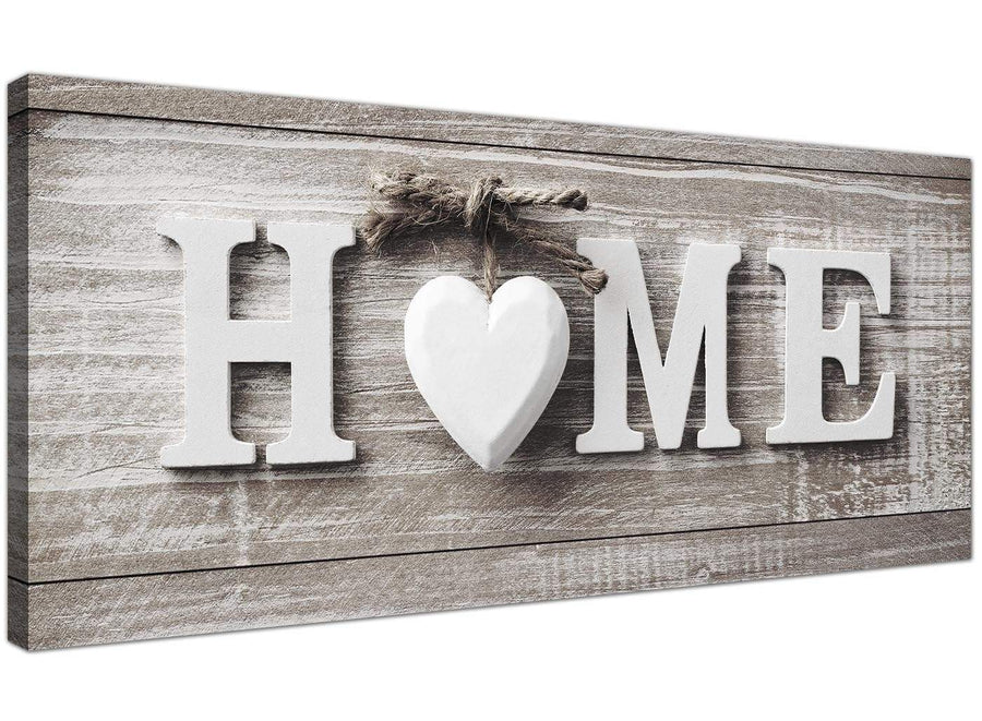 Oversized Shabby Chic Home Quote Beige Canvas Modern 120cm Wide 1317 For Your Kitchen