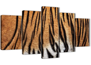 Oversized 5 Part Canvas Wall Art Pictures - Tiger Animal Print - 5472 - 160cm XL Set Artwork