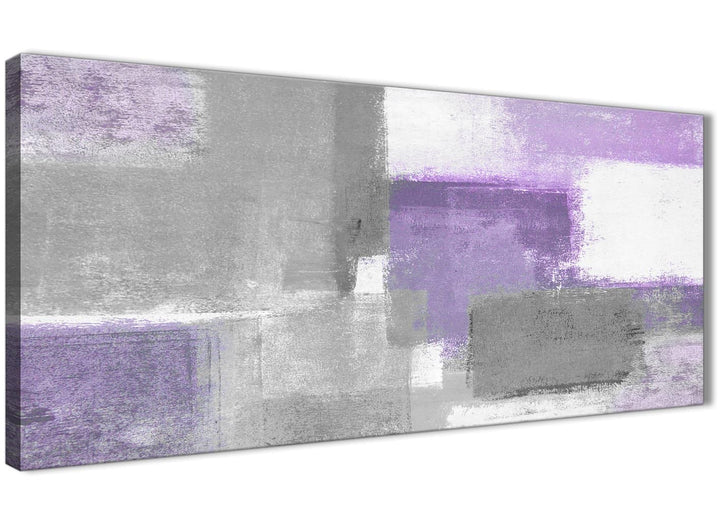 Panoramic Purple Grey Painting Living Room Canvas Pictures Accessories - Abstract 1376 - 120cm Print