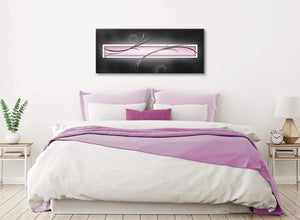 Pink Black Grey White Modern Abstract Canvas Living Room Canvas Wall Art Accessories - Abstract 1296 - 120cm Print