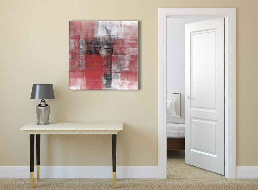 Red Black White Painting Abstract Bedroom Canvas Pictures Accessories 1s397l - 79cm Square Print