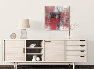 Red Black White Painting Kitchen Canvas Wall Art Decorations - Abstract 1s397m - 64cm Square Print