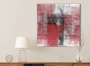 Red Black White Painting Kitchen Canvas Pictures Accessories - Abstract 1s397s - 49cm Square Print