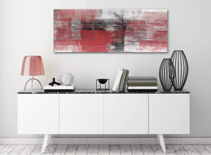 Red Black White Painting Living Room Canvas Wall Art Accessories - Abstract 1397 - 120cm Print