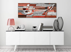 Red Grey Painting Living Room Canvas Wall Art Accessories - Abstract 1401 - 120cm Print