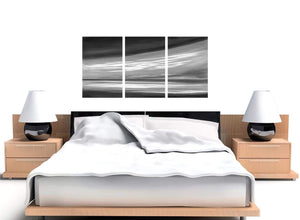 set of 3 black and white abstract canvas wall art 3272