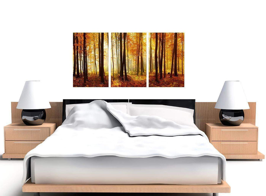 set of 3 black and white forest woodland trees canvas art 3243