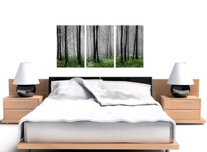 set of 3 black and white forest woodland trees canvas prints uk 3239