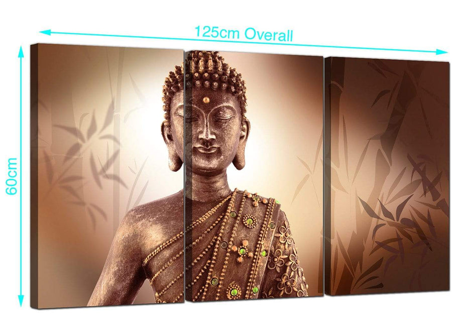 Set of 3 Buddha Canvas Prints UK 125cm x 60cm 3101