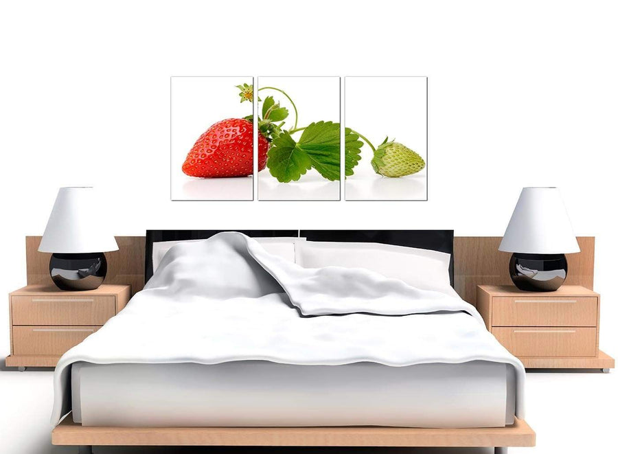 Set of 3 Strawberries Canvas Pictures