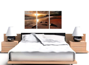 Set of 3 Beach Sunset Canvas Prints UK 125cm x 60cm 3131