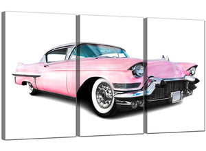 Set of 3 Automobile Canvas Prints Cadillac 3040