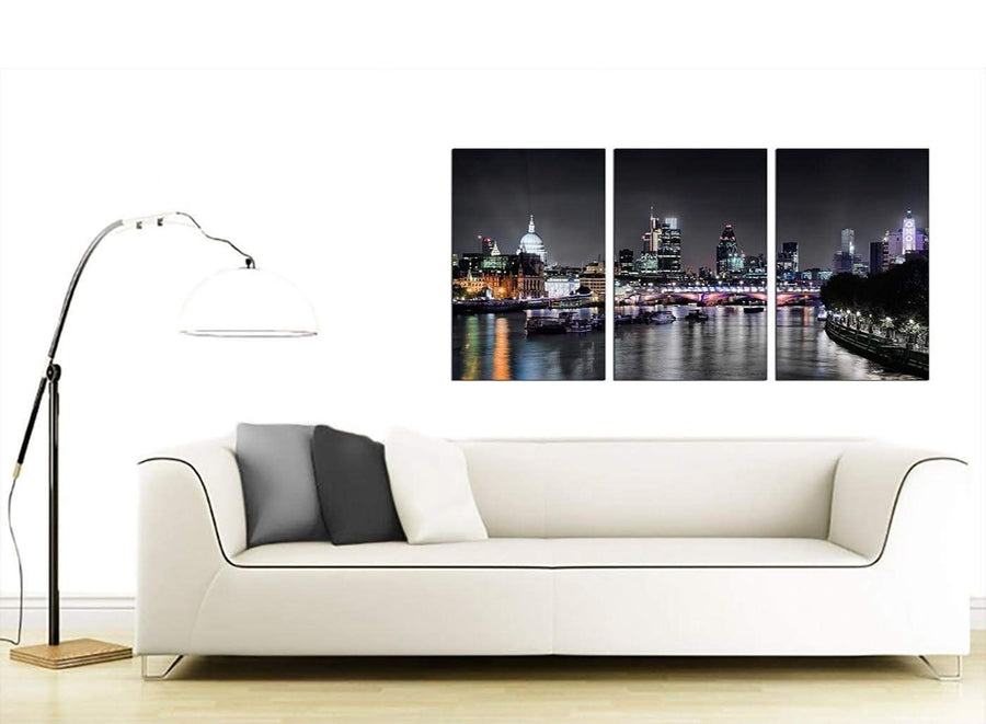 3 Part British City Canvas Art 125cm x 60cm 3211