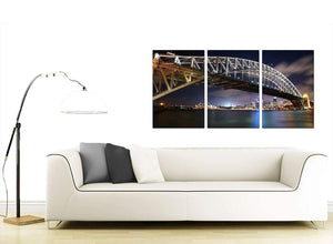 Set of 3 Australian City Canvas Wall Art 125cm x 60cm 3041