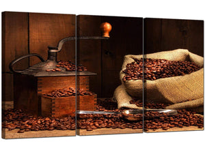 Set of Three Food & Drink Canvas Pictures Coffee Beans 3062