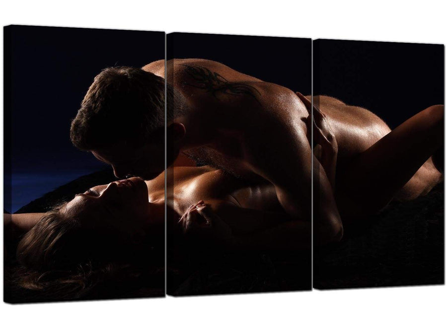 3 Panel Erotic Canvas Pictures Erotic Couple 3133