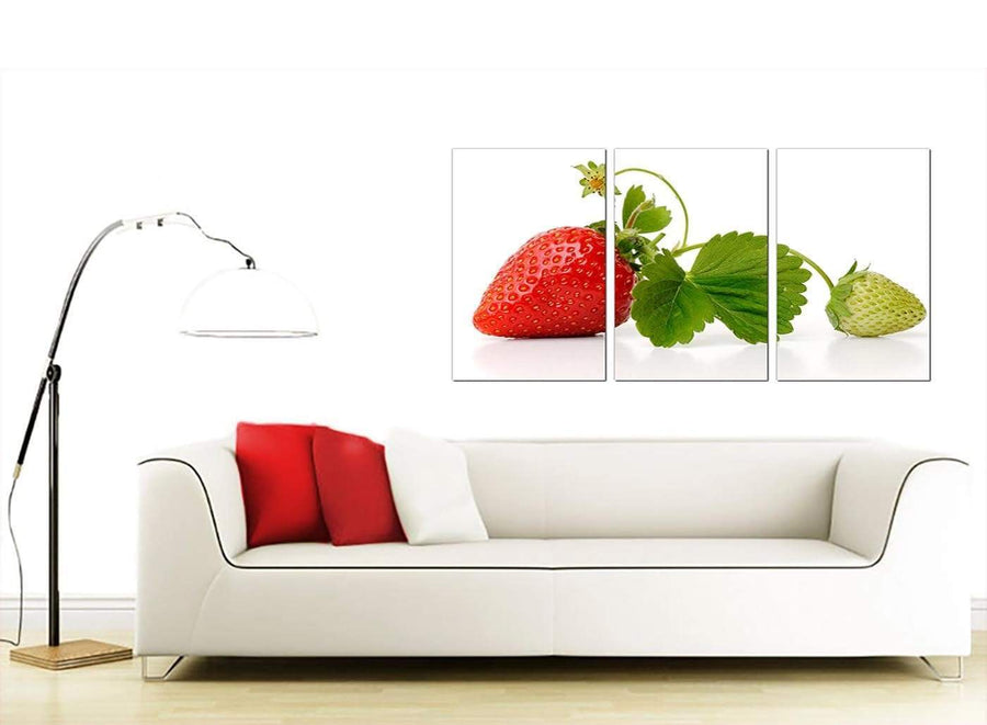 Set of 3 Food & Drink Canvas Pictures 125cm x 60cm 3074