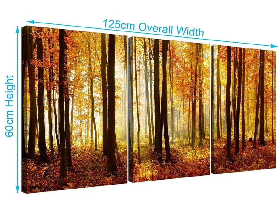 set of 3 forest woodland trees canvas prints black and white 3243
