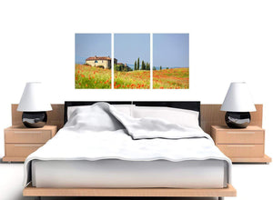 set of 3 green floral tuscan hills canvas wall art 3233