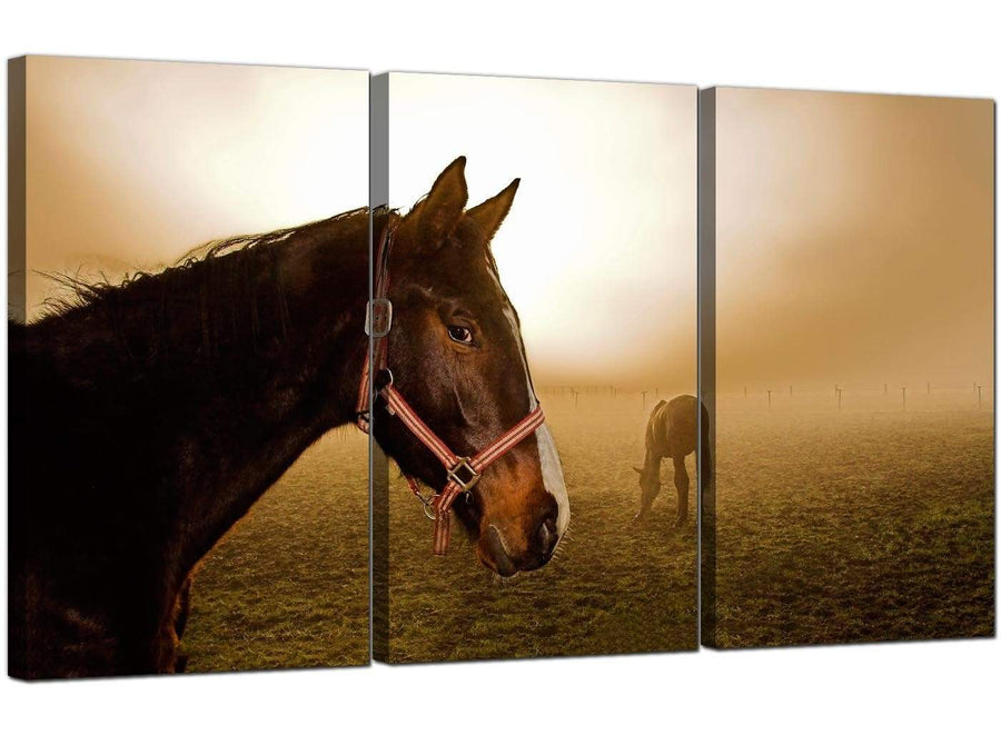 3 Panel Countryside Canvas Art Misty Dawn 3130