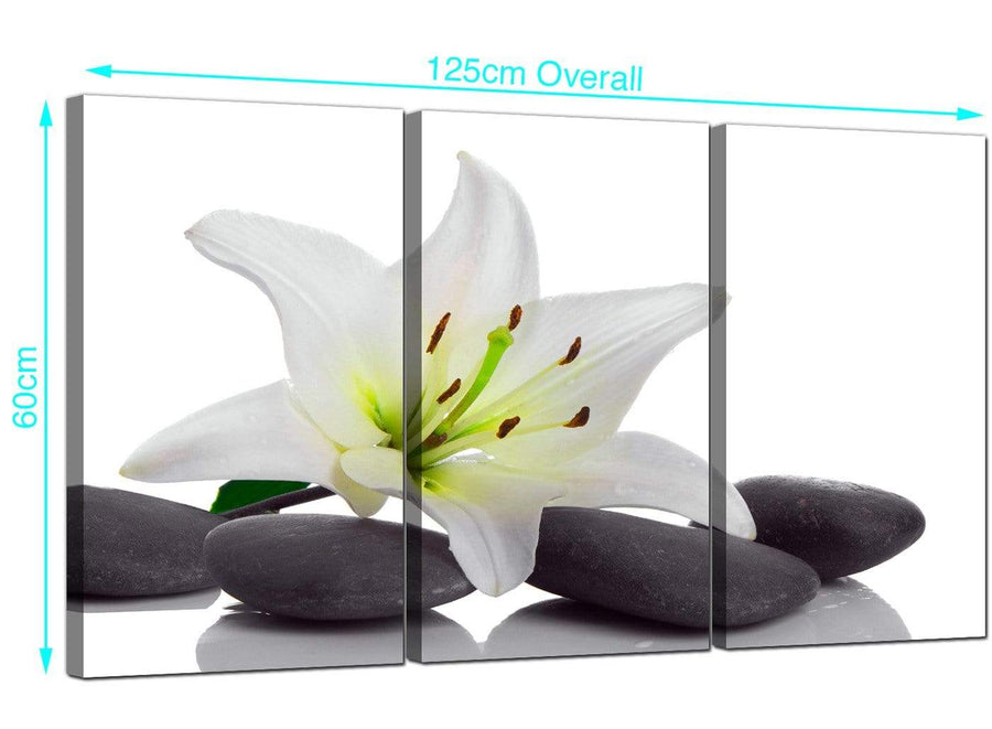 Set of 3 Lilies Canvas Prints UK 125cm x 60cm 3024