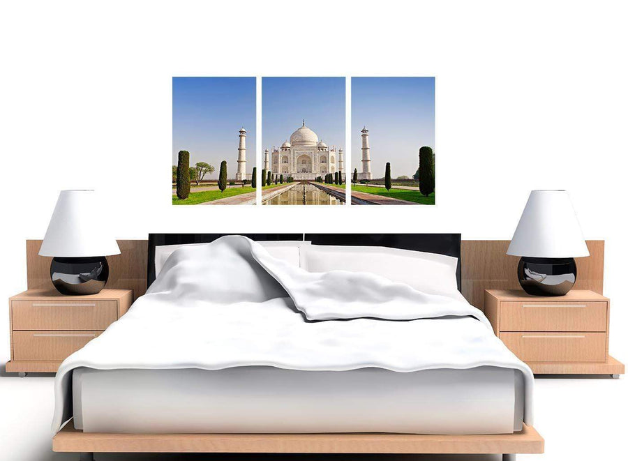 set of 3 natural taj mahal canvas pictures 3203