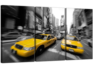 Triptych City Canvas Prints New York United States 3028