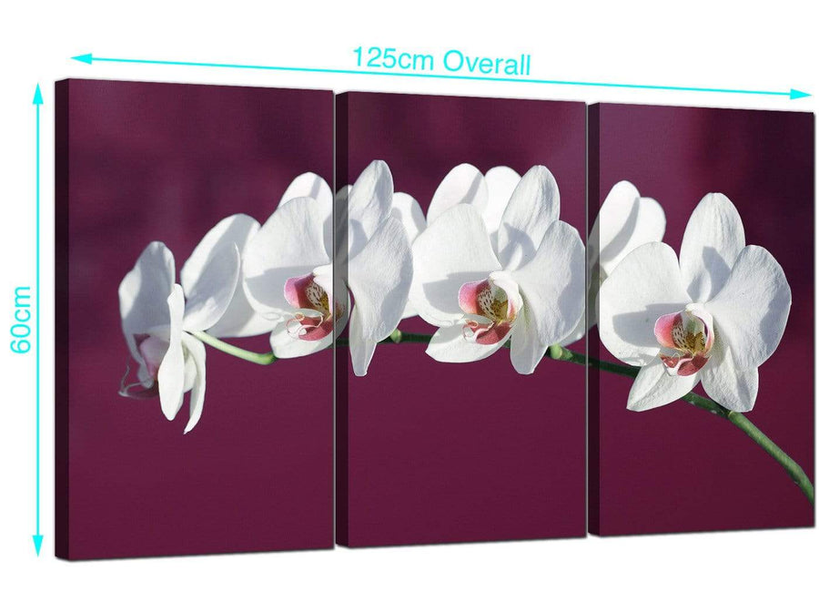Set of Three Orchids Canvas Prints UK 125cm x 60cm 3116