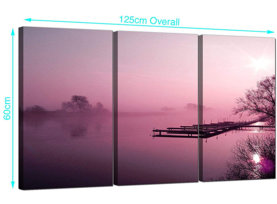 Set of 3 River Landscape Canvas Prints 125cm x 60cm 3120