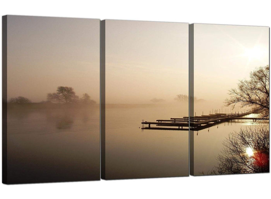 Set of 3 Landscape Canvas Prints UK Countryside 3117