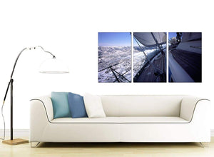 Set of 3 Sea Canvas Art 125cm x 60cm 3105