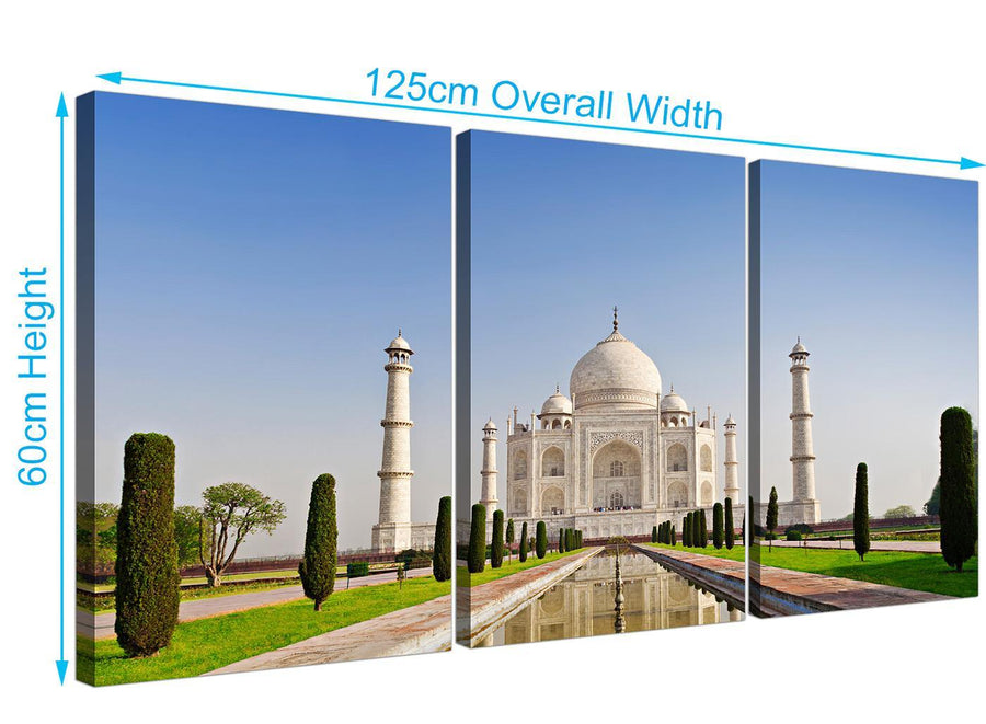 set of 3 taj mahal canvas prints natural 3203