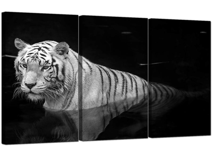Set of Three Animal Canvas Pictures Tiger 3020