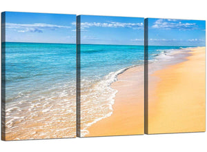 3 Panel Sea Canvas Pictures Tropical Beach 3199
