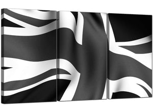 Set of 3 Flag Canvas Pictures Britain 3019