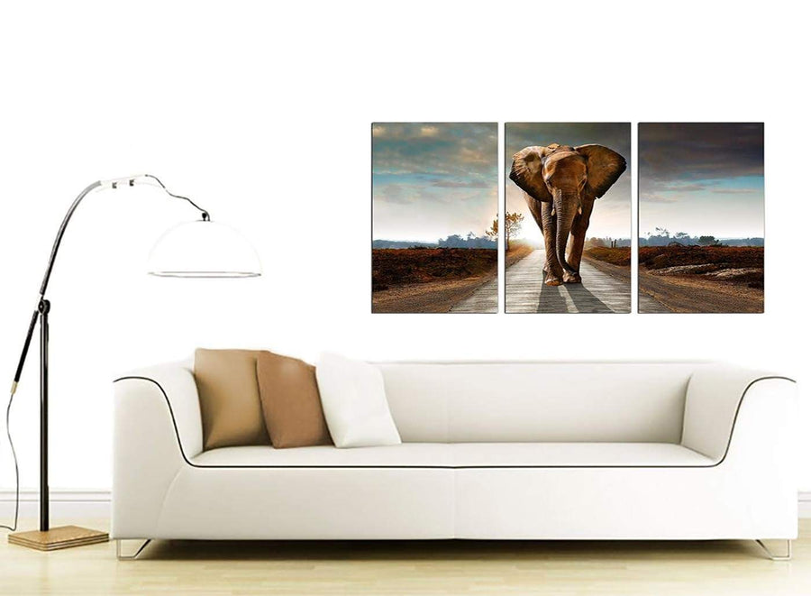 Set of 3 Wildlife Canvas Art 125cm x 60cm 3209