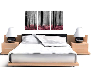 set of three black and white forest woodland trees canvas prints 3241
