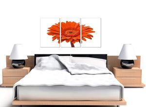 Orange White Gerbera Daisy Flower Floral Canvas