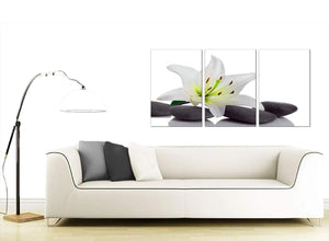 Set of 3 Floral Canvas Prints UK 125cm x 60cm 3024