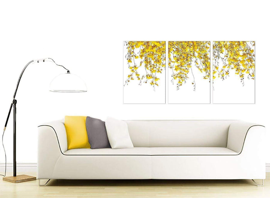 set of three floral canvas prints living room 3263