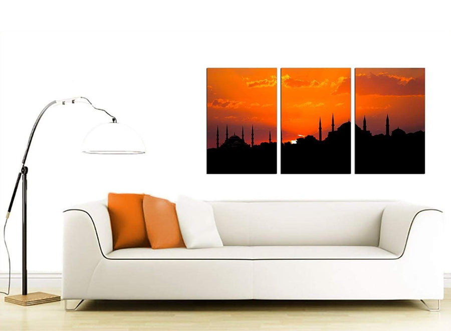Set of Three Turkish Canvas Pictures 125cm x 60cm 3205