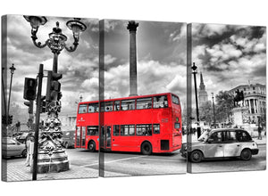 Three Panel City Canvas Wall Art English London Scene 3210