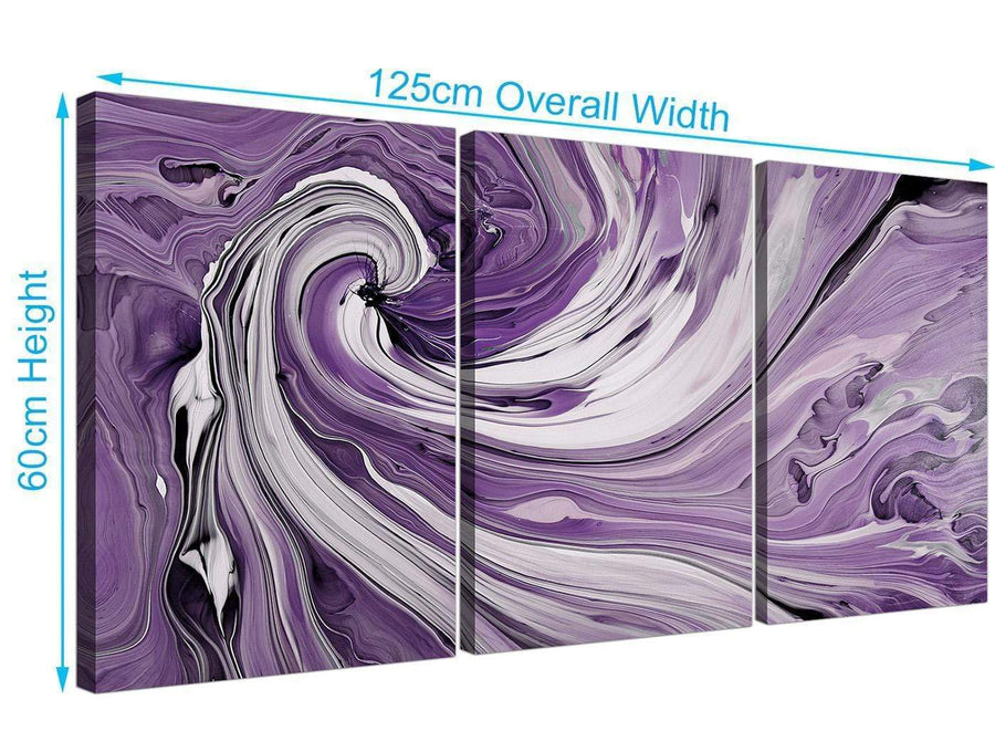set of three purple and white spiral swirl canvas pictures purple 3270