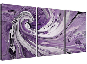 set of three purple and white spiral swirl canvas prints uk living room 3270
