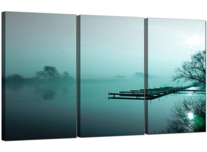3 Panel Countryside Canvas Prints Misty Morning 3118