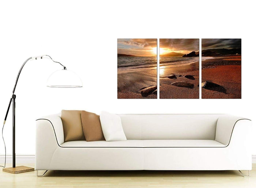 Set of 3 Sea Canvas Prints 125cm x 60cm 3131